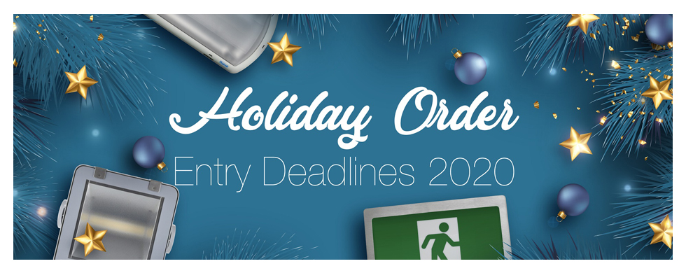 Banner for an e-blast on holiday hours