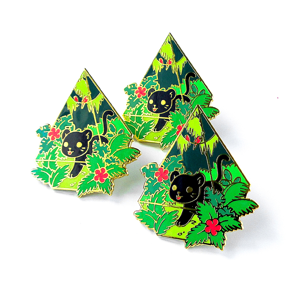 Jungle terrarium pin