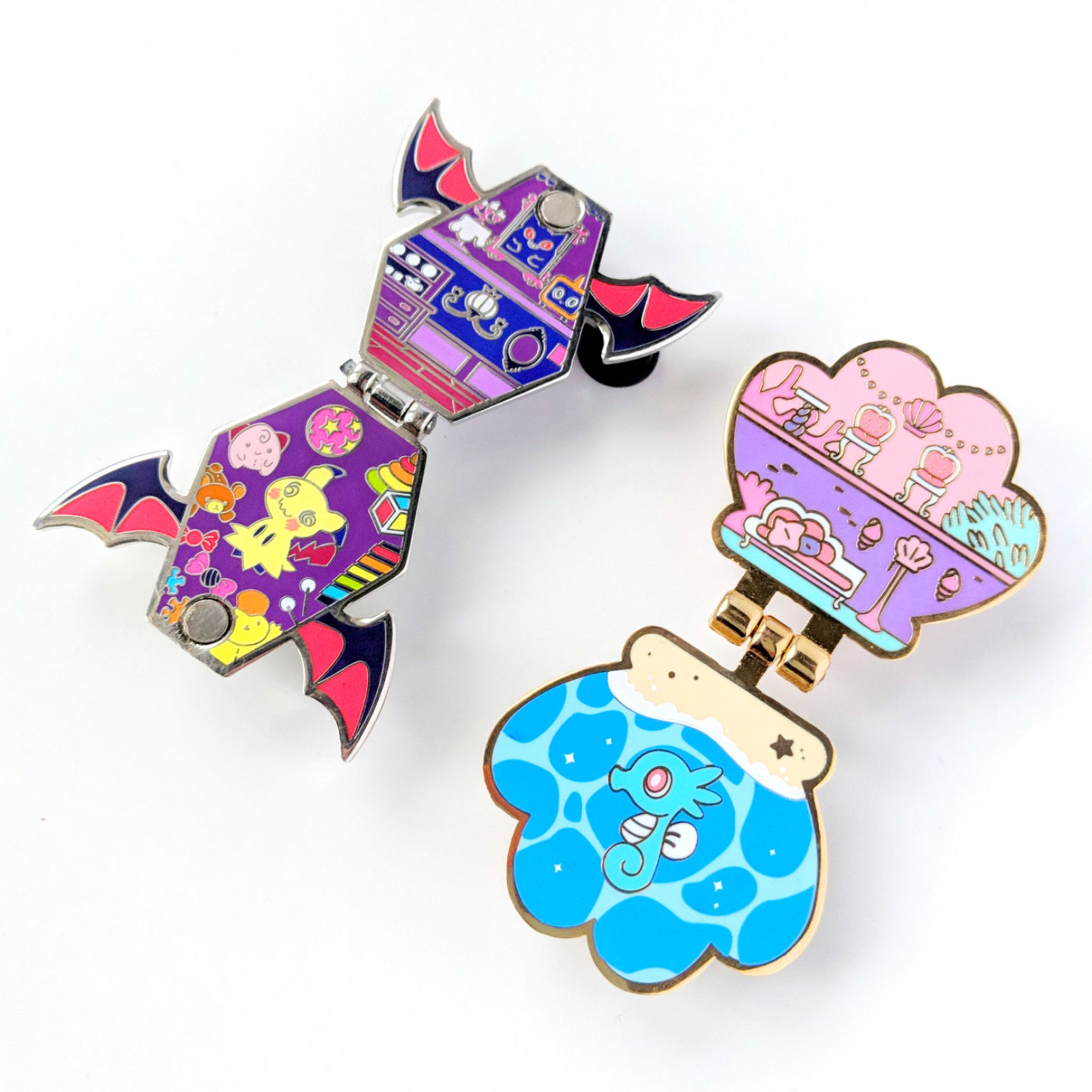 Mash-up parody pin of Pokemon and Polly Pocket