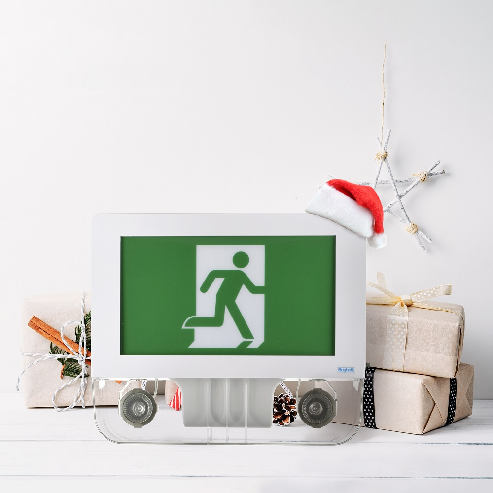 A social media post I made for Christmas featuring our Verde Running Man sign